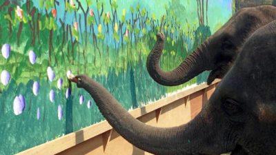 8 Elefanten malen