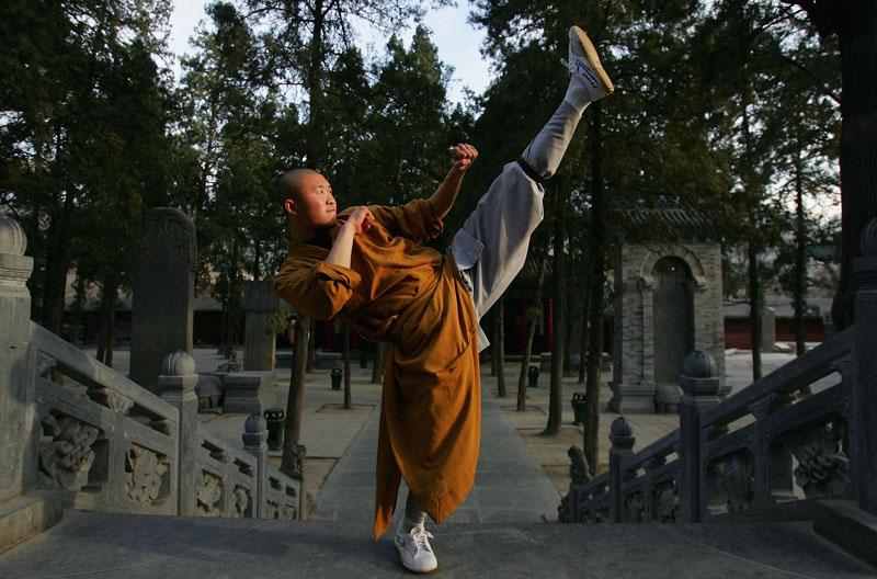 Das berühmte Shaolin-Kloster in Dengfeng, Provinz Henan, China