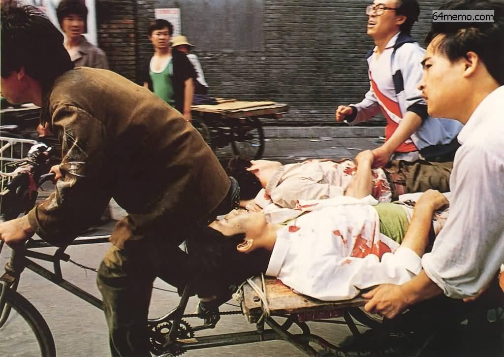 Um 3 Uhr morgens am 4. Juni 1989 in Peking