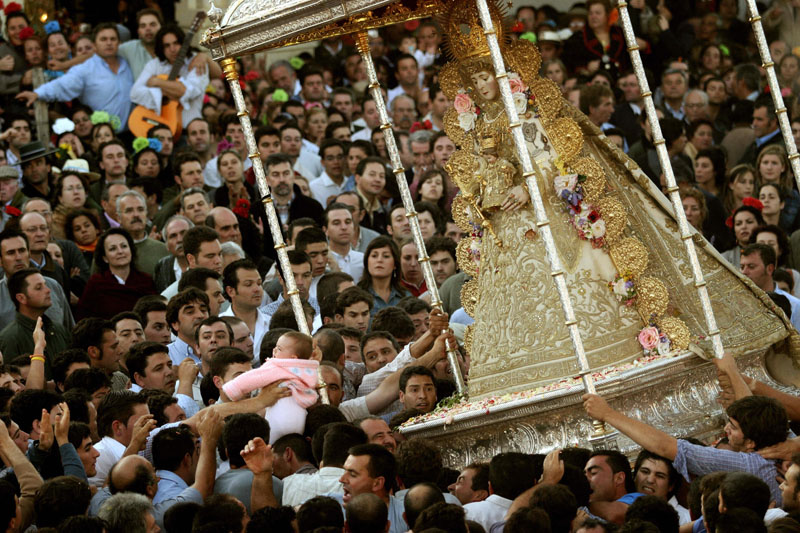 Die Pfingst-Wallfahrt in El Rocío, Spanien