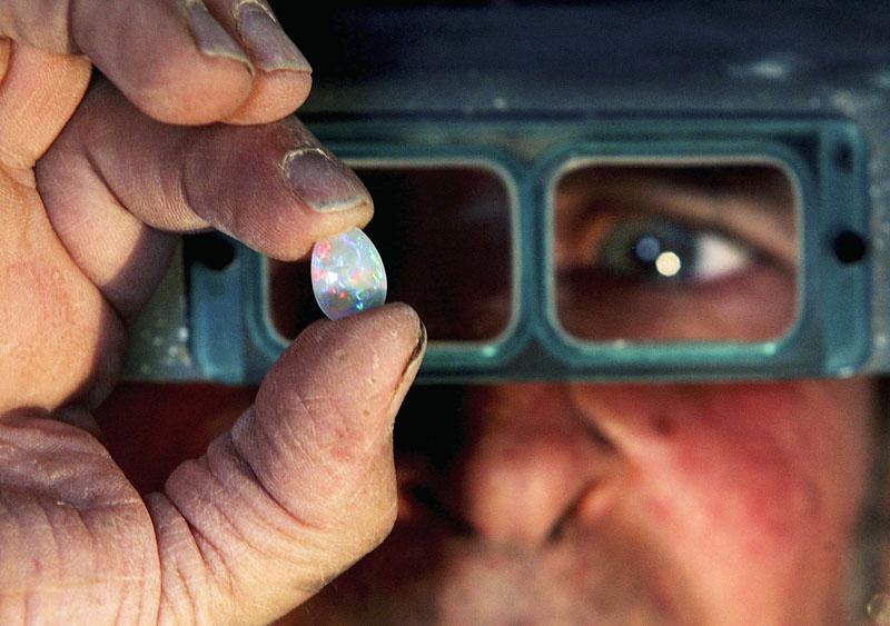 Opal-Produktion in Coober Pedy, Australien