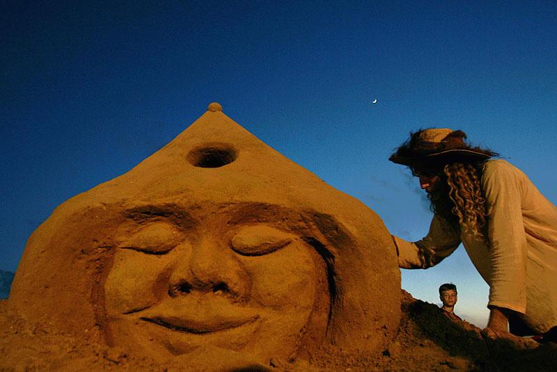 Sandkunst in Haifa, Israel