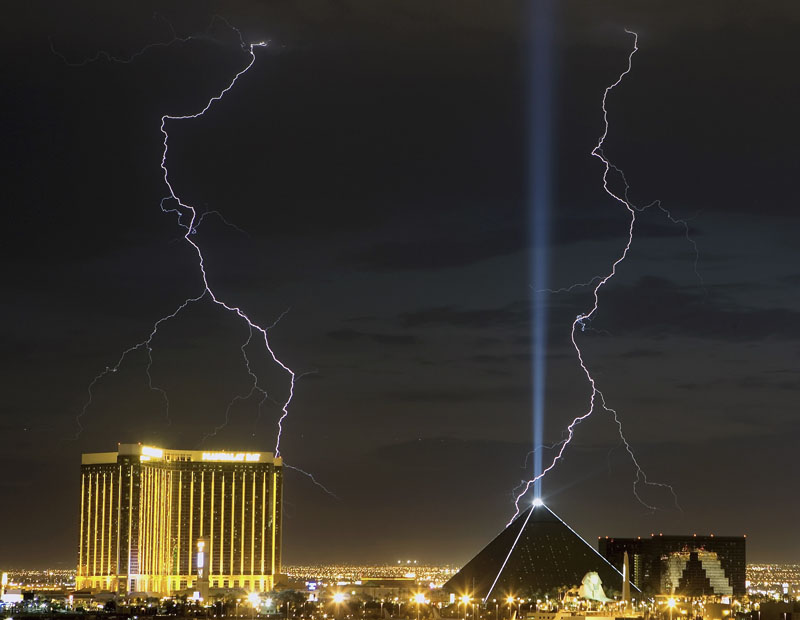 Gewitter über Las Vegas, Nevada