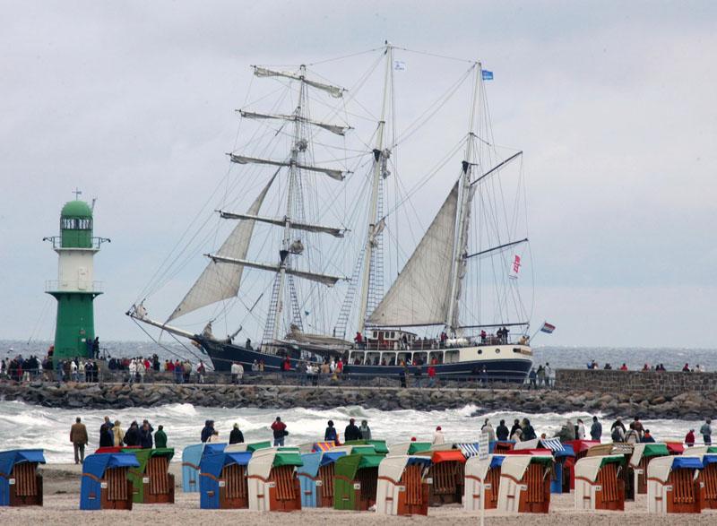 Die 15. Hanse Sail in Rostock noch bis zum 14. August