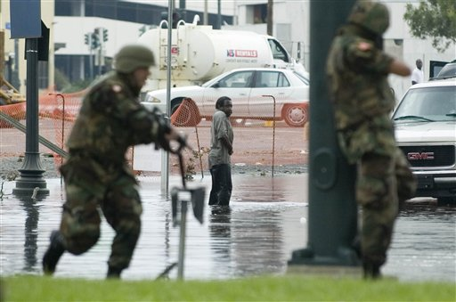 Soldaten der Nationalgarde treffen in New Orleans ein