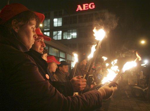 4.500 Nürnberger demonstrieren für AEG-Werk