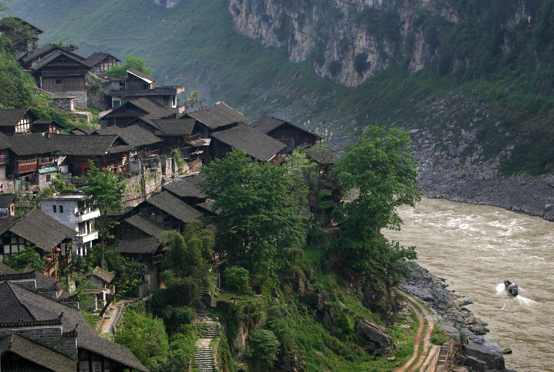 Tausend Jahre alte Stadt Gongtan in China soll in den Fluten versinken