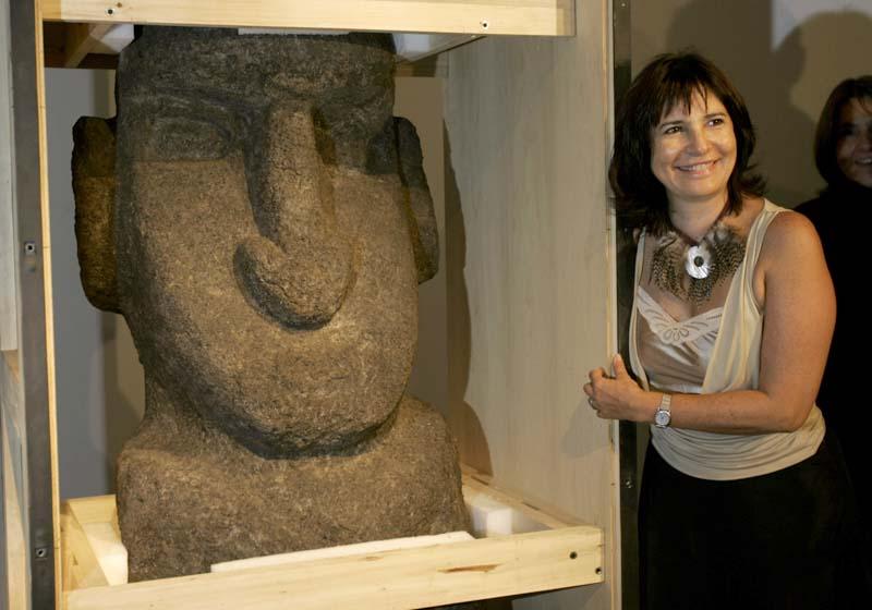 Eine Moai kehrt zurück