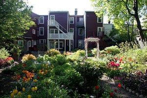 BONNE ESPERANCE: The beautiful flower garden behind the Bonne Esperance House Heritage Inn, located on the famous Gower Street in St. John