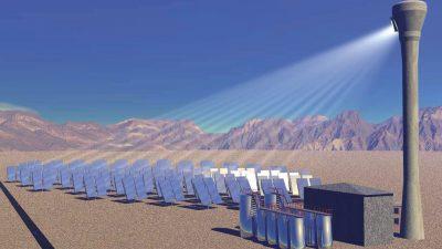 Erstes solarthermisches Kraftwerk in Deutschland