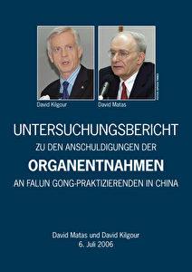 Der Untersuchungsbericht von Kilgour und Matas ist auch als Broschüre über den Epochtimes Europe Zeitungsverlag zu beziehen.