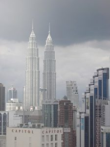 TOWERING EVIDENCE: Once the tallest buildings in the world, the Petronas Towers indicate Malaysia