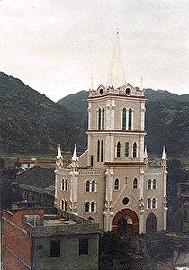Die St. Josefskirche in Fuzhou, Provinz Fujian, im Jahr 1997. (