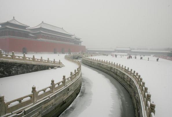 Peking im Schnee zum Jahreswechsel