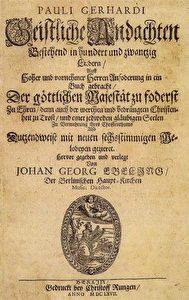 Liederbuch aus dem Jahr 1667