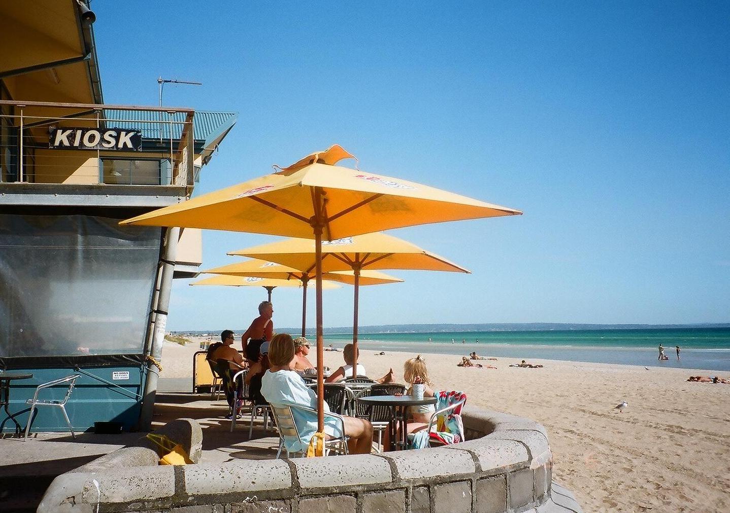 Melbournes einzigartige Strand-Café-Kultur