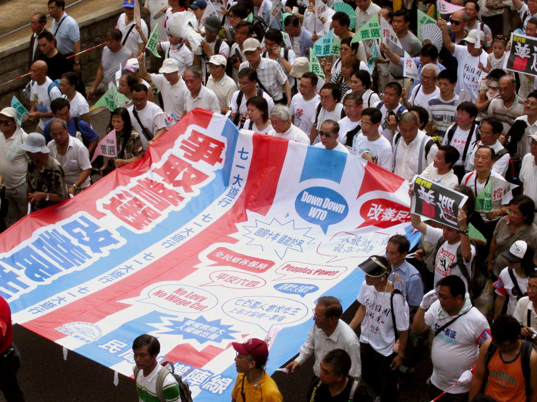 Hongkong: Zehn Jahre nach der Übergabe an das rote China