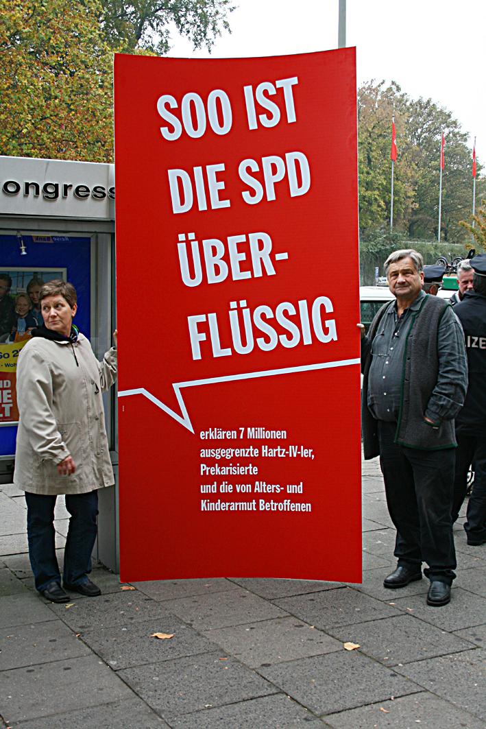 Wähler mit Sozialreform der SPD unzufrieden