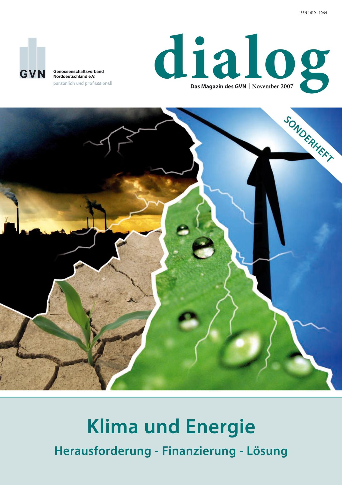 """Neues Sonderheft """"Klima und Energie"""""""