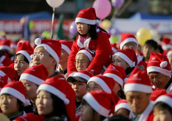 Marathon der          Weihnachtsmänner