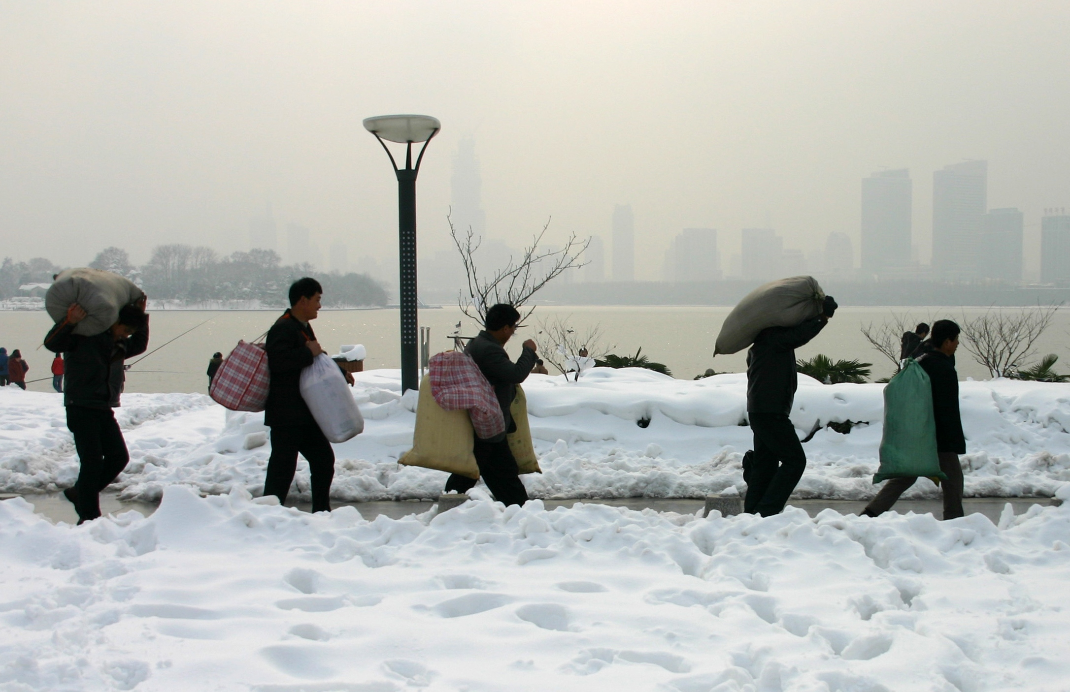 Schneedrama in Chinas Provinzen