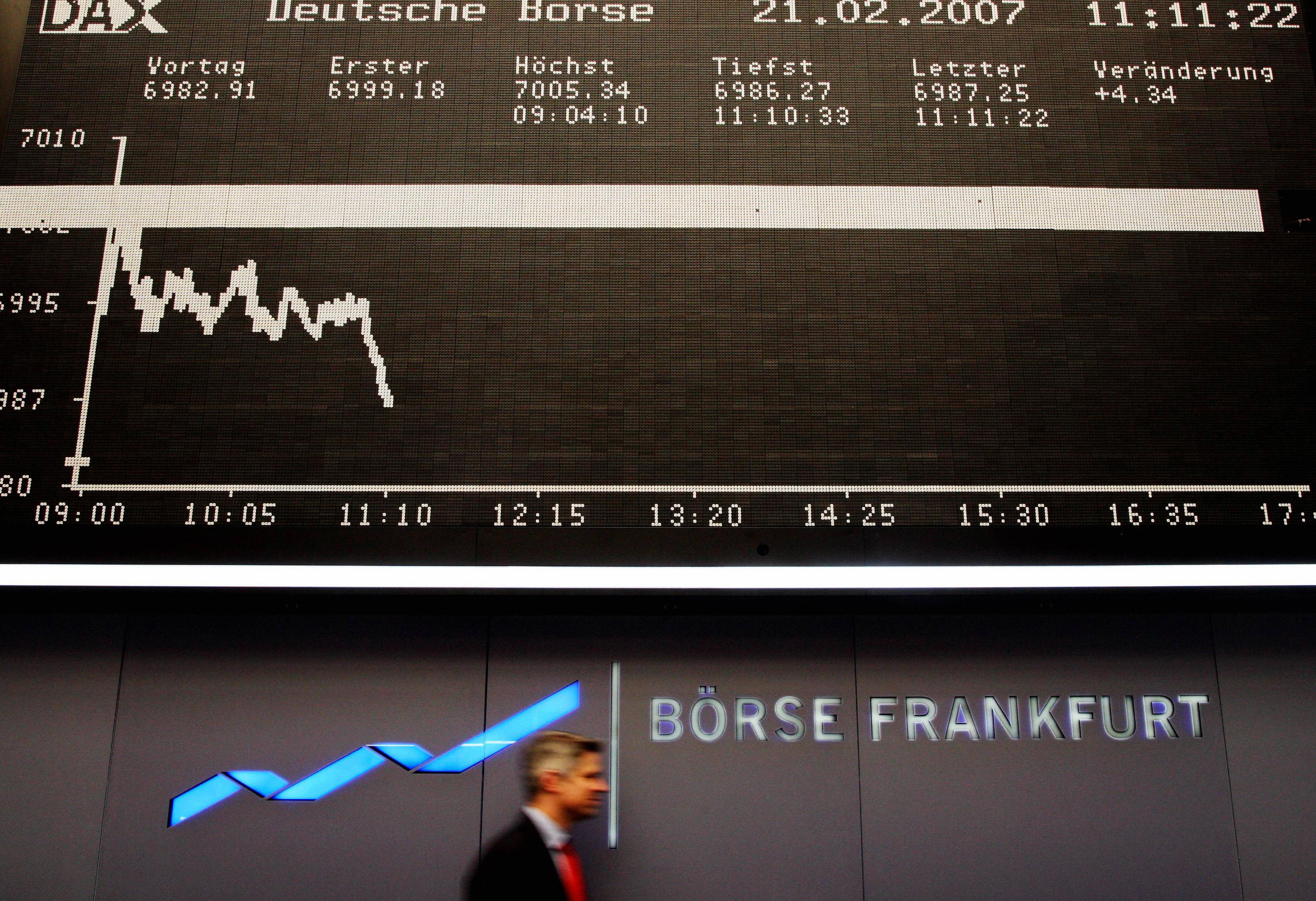 Schwarzer Montag an den Börsen
