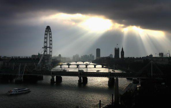 The London Eye im Winterlicht