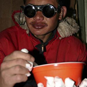 Der 19-jährige Wanglo war schneeblind und hatte Erfrierungen an seinen Fingern. (Christian Gatniejewski)