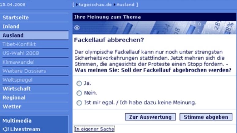 """ARD """"Tagesschau.de"""" im Visier chinesischer Blogger"""