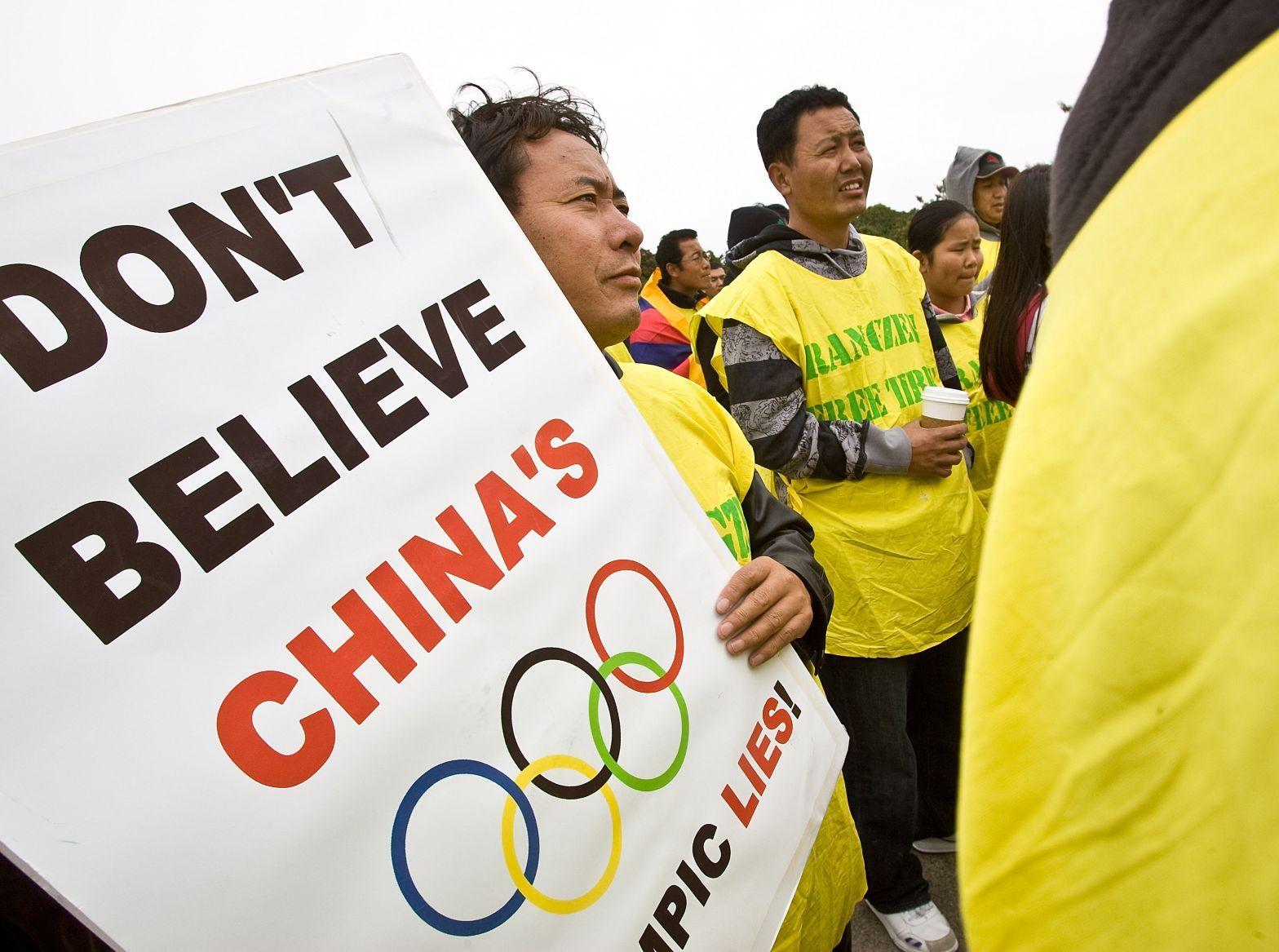 Olympische Spiele katastrophal für Meinungsfreiheit in China