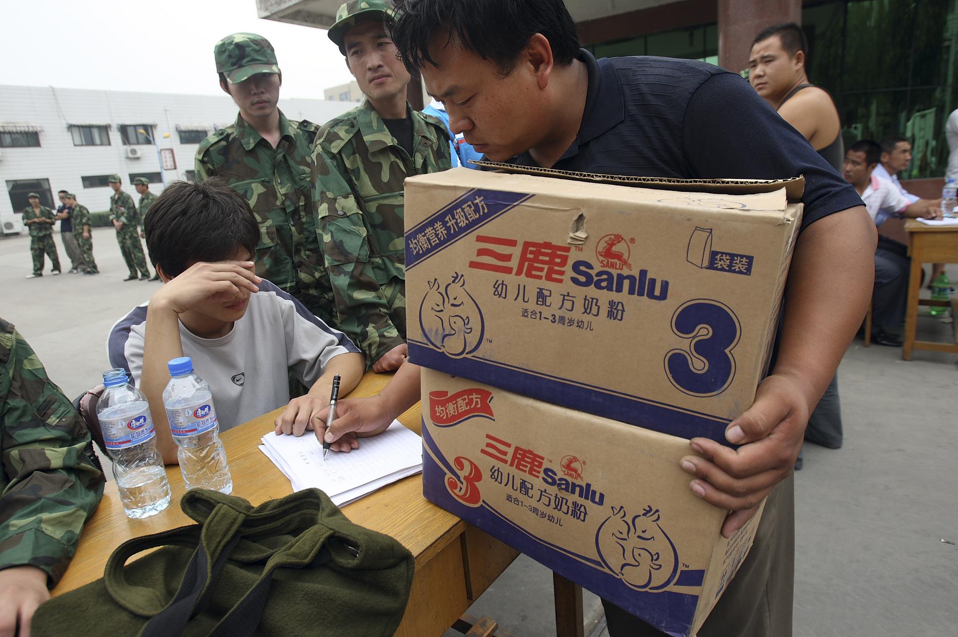 Beimischung von Melamin als Eiweißersatz in China gängige Methode