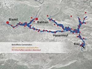Der Ilisu-Staudamm würde den Tigris und seine Zuflüsse über eine Länge von 400 Kilometern aufstauen. (Gernot Schwendinger)
