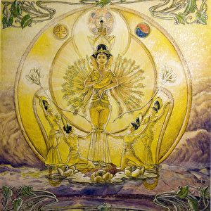 """""""Udambara Blume"""": """"Die Udambara ist eine mystische Blume in buddhistischen Schriften, von der es heißt, sie blühe nur alle 3000 Jahre als Zeichen für die Anwesenheit eines Buddha auf der Erde. Man findet sie auf metallenen Objekten, in Tempeln kommt sie an Statuen vor. Seit 1997 wurden in verschiedenen Orten der Welt Udambaras gesehen, zuerst in einem südkoreanischen Zen-Tempel. Die tausendarmige Bodhisattva symbolisiert den unermüdlichen Einsatz und Ermutigung zu barmherzigen Handeln und spendet Trost und alle guten Wünsche für alle Wesen."""""""