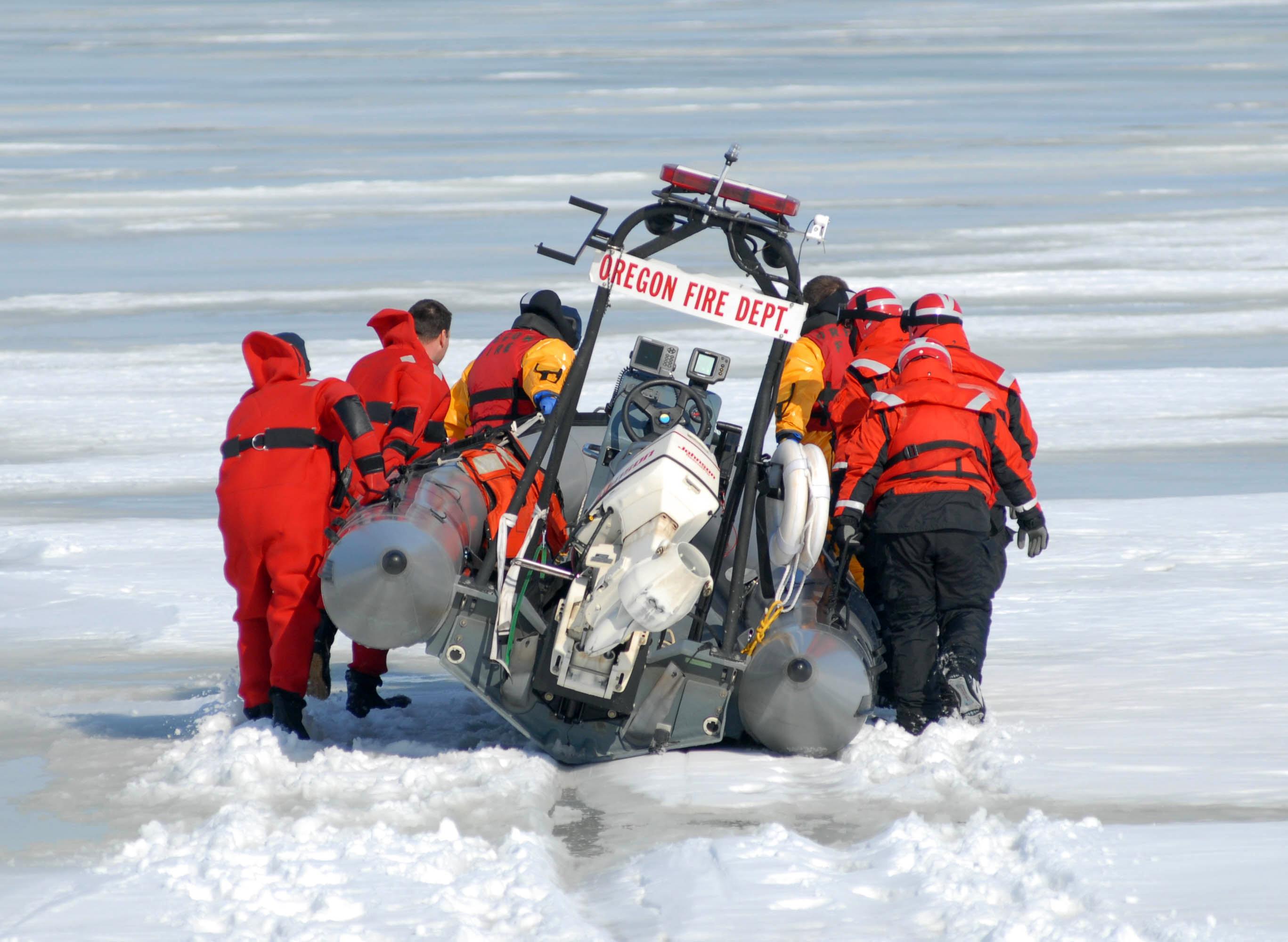 Rettung aus dem Eis