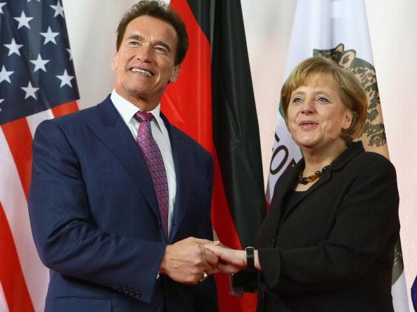 """Fans begrüßten Schwarzenegger mit """"Arnie""""-Rufen"""