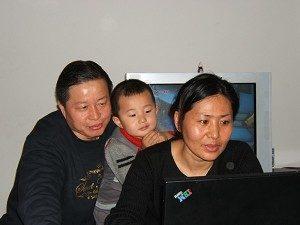 Der renommierte chinesische Menschenrechtsanwalt Gao Zhisheng und seine Familie. (The Epoch Times)