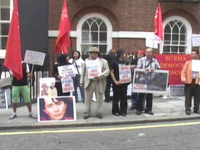 London: Protest for Aung San Suu Kyi