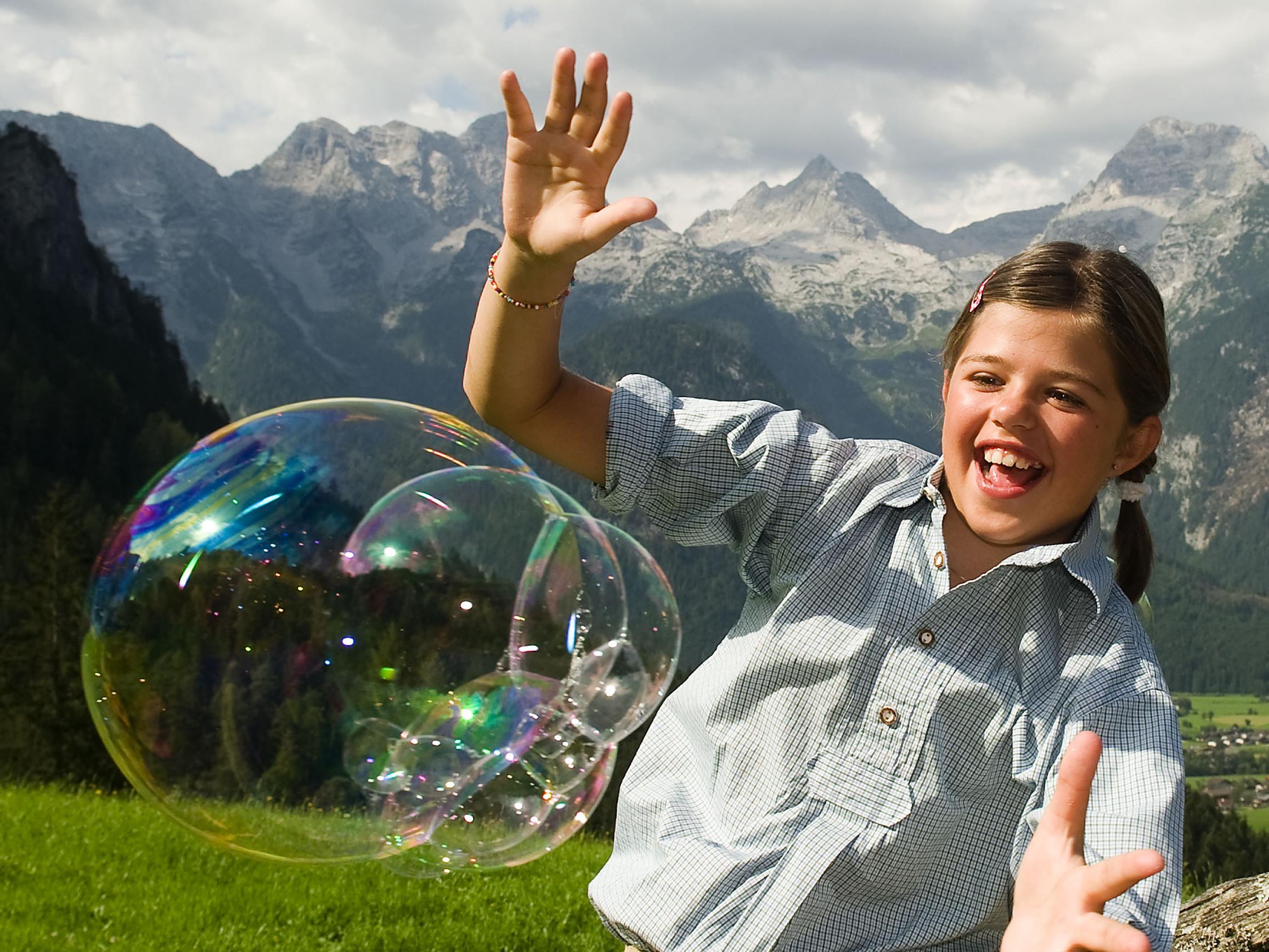Seifenblasen-Fangen