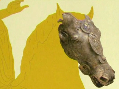 Germany: Roman Bronze Horse Head Discovered