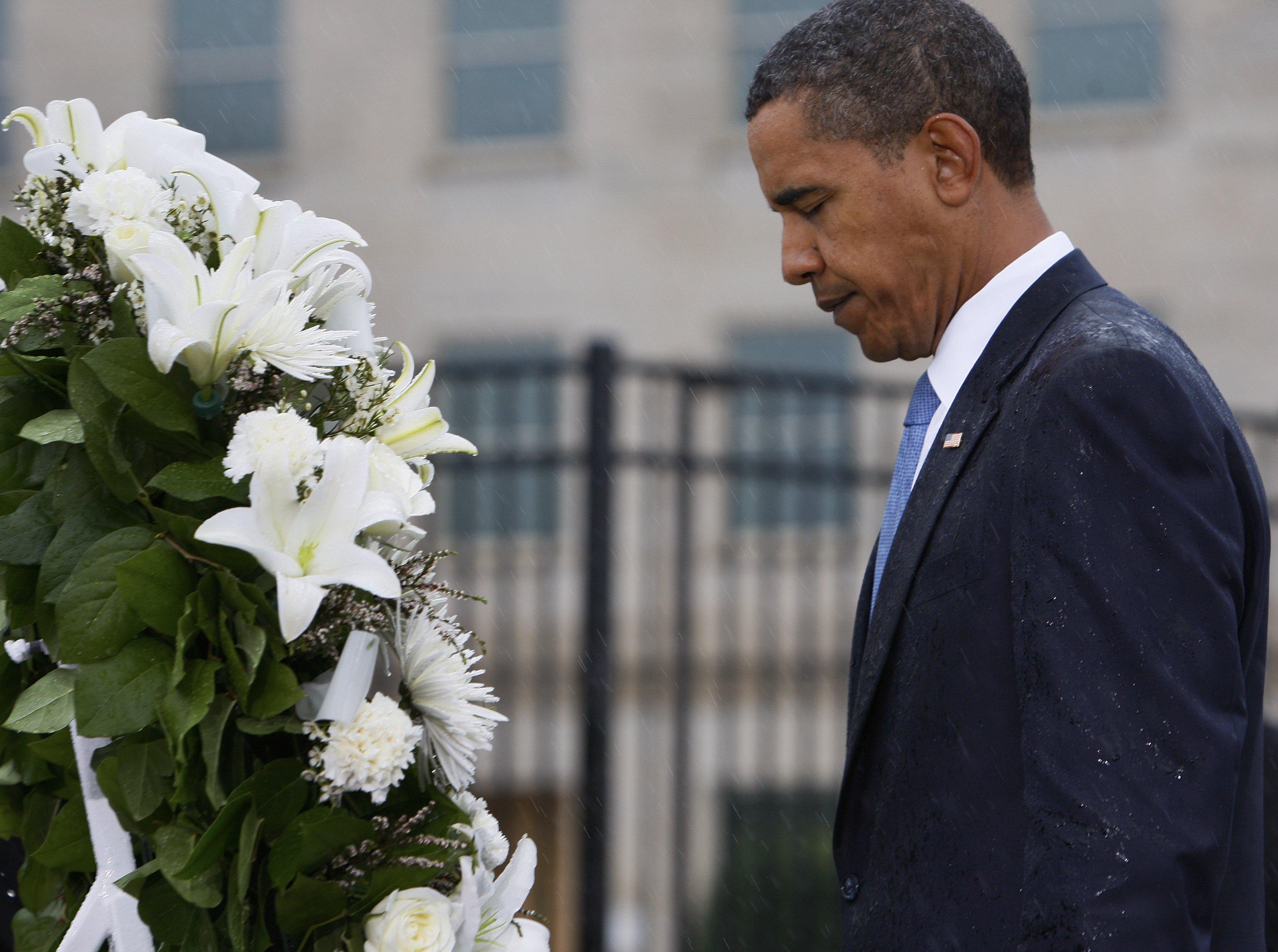 Obama am Pentagon Memorial