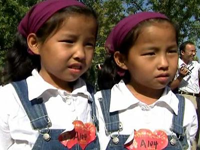 Ein Kind Politik Zwillinge
