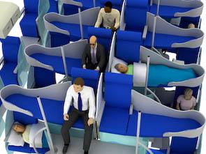 """""""Flex-Seats"""" für neuen Flugkomfort"""