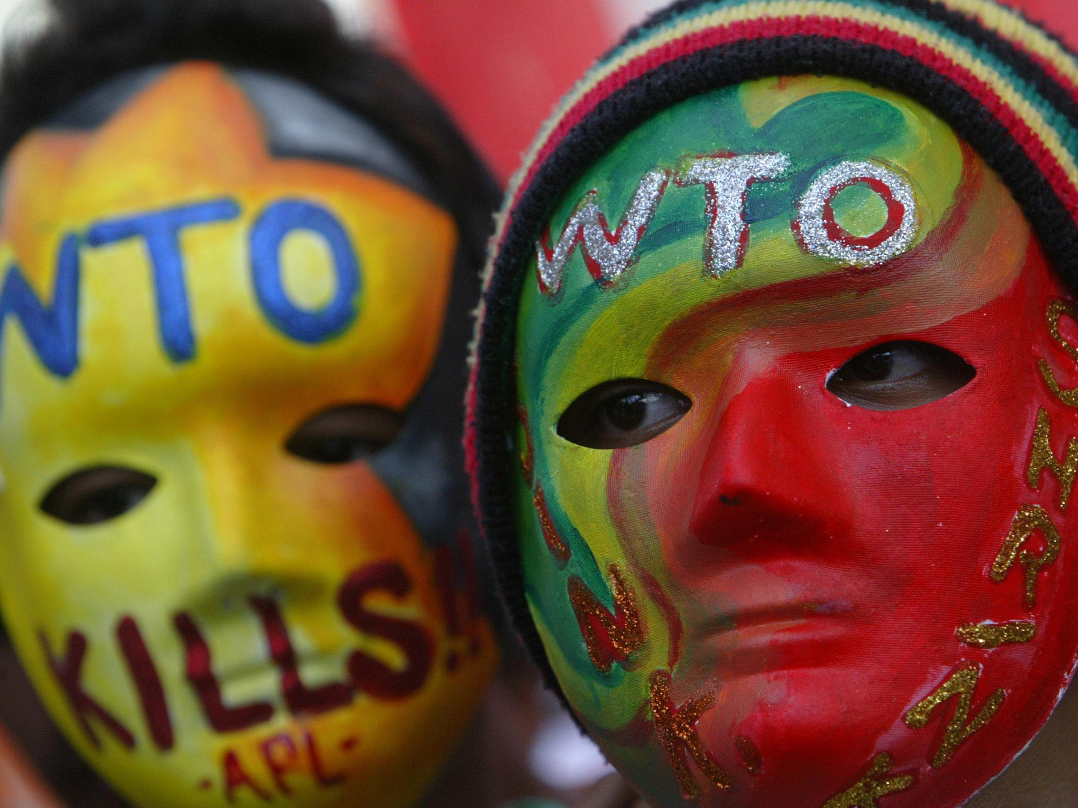 Demo gegen WTO-Politik