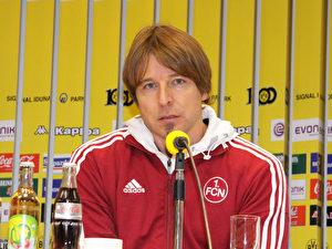 Der Trainer des 1.FC Nürnberg, Michael Oenning.