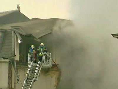 Building Collapse Caught on Film in Belgium