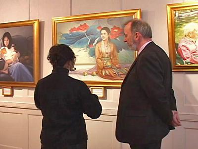Falun Gong Art Exhibit in London