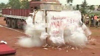 Indien: Magier führt todesmutigen Stunt vor