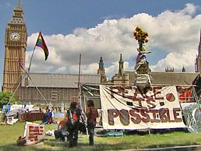 London Peace Protesters Face Eviction