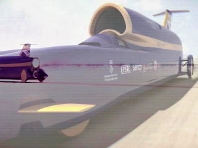 """UK: Supersonic """"Bloodhound"""" Car Unveiled at Farnborough Air Show"""