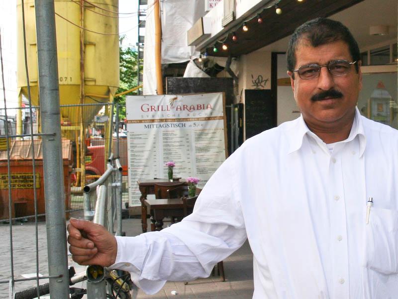 Hamburger Restaurant-Chef in der Sackgasse